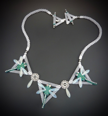 Mid Summer Night's Necklace Virtual Workshop and Kit (silver teal kit) - February 12th, 2021