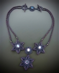 Stern Blume Halskette Necklace Virtual Workshop and Kit (purple kit) - June 11th, 2021