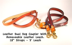 Dogs Leather Coupler l Leather Coupler Leather Leash