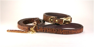 Genuine Elephant Leather Dog Collars & Leashes