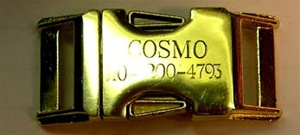 Engraved Brass Side Release Buckle