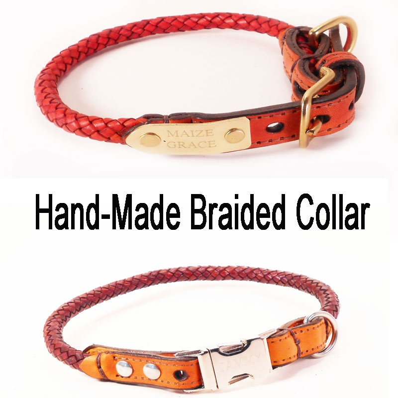 quick release leather dog collar