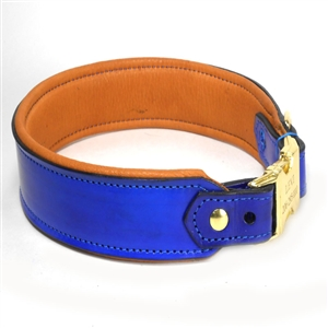 The  Hand Crafted Leather Dog Collar - Adjustable - Engraved Release Buckle
