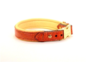 Genuine Ostrich Geno Leather Dog Collar