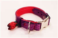 Alligator Leather Dog Collar