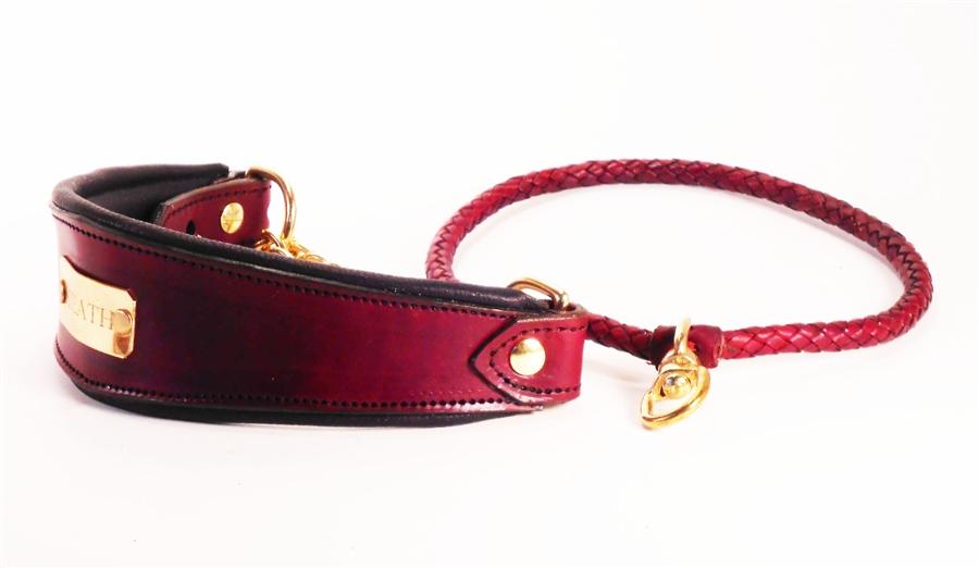 Custom Leather Martingale Collars L Leather Martingale Dog