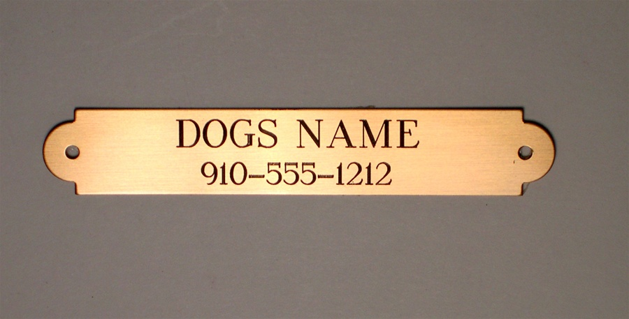 Name Plate: Engraved Name Plate L Solid Brass / Stainless