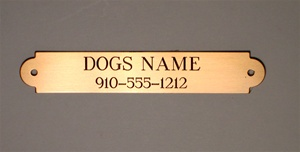 Engraved Custom Brass Name Plate