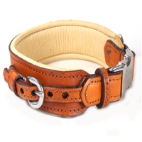 Stormy SRB Vegtable Tanned Leather Dog Collar