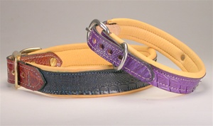 Luxury Genuine Ostrich Leather Dog Collar