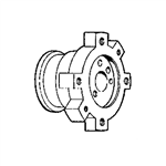 Bradley 118-094 Valve Body Adapter for Bradtrol Shower Column