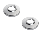 Sayco P056 Escutcheon Flange for Two and Three Handle Tub/Shower Valves, Polished Chrome