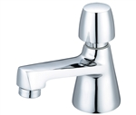 Central Brass 0355-AN2C Slow-Close-Basin 1 Hole Push Handle Metering Faucet for Cold Water, PVD Polished Chrome