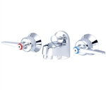 Central Brass 1177-LE Shelfback Lavatory Faucet With Lever Handles, Polished Chrome