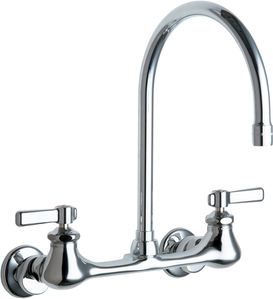 Chicago Faucets 540-LDGN8AE35ABCP Wall Mount Kitchen Faucet - Low ...