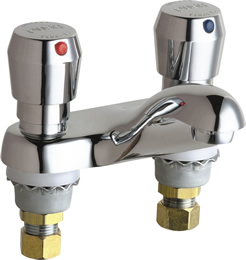Chicago Faucets 802-665ABCP Two-Handle Metering Faucet