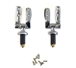 Duravit 0061081000 Chrome Seat Hinges (Pair) for 1930 Old Version