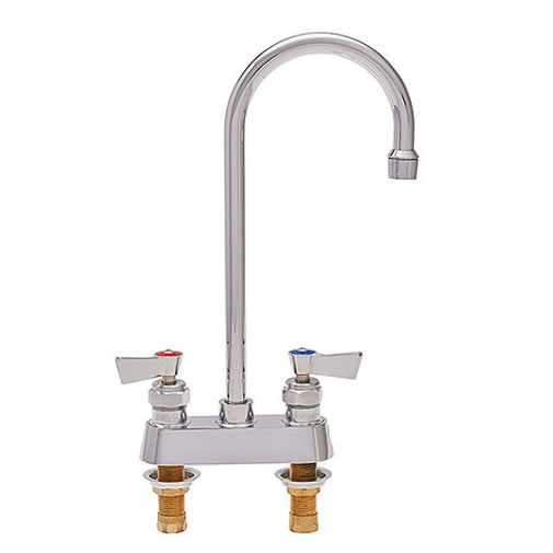 Fisher 3515 4 Inch Deck Mount Bar Faucet With 12 Inch Gooseneck Spout