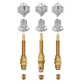 Central Brass Three Handle Tub and Shower Rebuild Kit - CB3HDLKIT