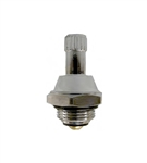 Hot Water Stem for Advance Tabco Commercial Faucets 56011LF, Chrome Plated Stem with Chrome Lock Nut - Clockwise to Close