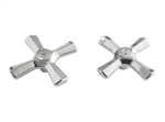 Briggs Cross Handles, Chrome Plated - 96-0132. Replacement for Briggs/Republic 6510 & DIV524