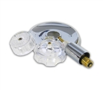 Mixet Tub & Shower Rebuild Kit  includes a new cartridge with sleeve, escutcheon trim plate and clear plastic handle - RBK7045