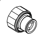 Sigma 18.12.016 Swivel Bushing for Thermostatic Shower Valves