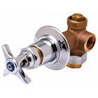 T&S Brass B-1025-UCP Concealed Straight Valve, Union Coupling Inlet, 1/2 inch NPT Female Outlet, Eterna Cartridge