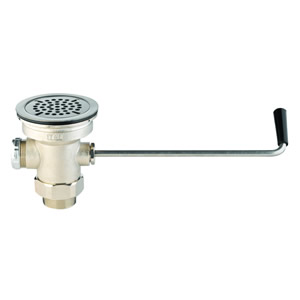 T&S Brass B-3940 Waste Drain Valve with Twist Handle, 3 inch X 2 inch & 1-1/2 inch Adapter