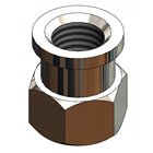 T&S Brass PG-0002 Adapter, 3/8 inch NPT Female X 1/4 inch NPT Female, Chrome-Plated Brass