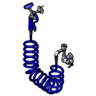 T&S Brass PG-1WREV Pet Grooming, Single Hole Wall Mount with Vacuum Breaker, 9' Coiled Hose & PG-35Av Sprayer