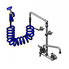 T&S Brass PG-8WOAN-12 Pet Grooming Unit, 8 inch Wall Mount, Overhead Swivel Arm, 12 inch Swing Nozzle, Aluminum Sprayer