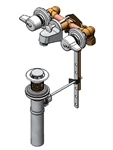 Union Brass 170-Q Ledgeback Lavatory Faucet with 1/4 Turn Ceramic Disc Cartridges, 4.75 inch 6.625 inch, With Pop-Up