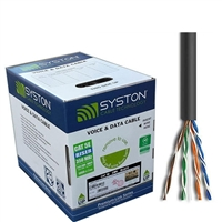 SYSTON CABLE 1007 –24 AWG 4 PAIR CAT 5E 350 MHZ CMR
