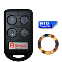 CANSEC CanProx Dual Technology Four-Button RF Transmitter- 433 MHz/w Proximity Coil (HID Format)