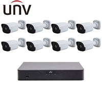 UNV 4MP Bullet/8 Channel NVR Kit