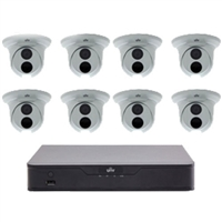 UNV 8 Channel NVR Kit with 2TB HDD and 8 4MP Fixed Turret Cameras