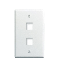 Legrand WP3402-WH 2 Port Wall Plate