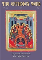 The Orthodox Word #323 Print Edition
