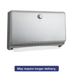 Surface-Mounted Paper Towel Dispenser, Stainless Steel, 10 3/4 x 4 x 7 1/8