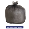 High-Density Can Liners, 40 x 46, 40-45gal, 19mic Equivalent, Black, 6/Carton