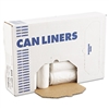 High-Density Can Liners, 43 x 47, 56gal, 14 Micron, Natural, 25/Roll, 8 Rolls/CT
