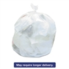 High-Density Can Liners, 43 x 47, 56gal, 19mic Equivalent, Clear, 25/RL, 6/CT