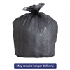 High-Density Can Liners, 43 x 47, 56gal, 19 Micron Equivalent, Black,6/Carton
