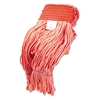 Super Loop Wet Mop Heads, Cotton/Synthetic, Large Size, Orange