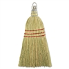 "Whisk Broom, Corn Fiber Bristles, 10"" Wood Handle, Yellow, 12/Carton"