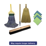 "Complete Cleaning Kit, Med. Mop, 60""Handle, Blue/Green/Yellow"