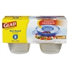 GladWare Mini Round Food Storage Containers, 4 oz,  8/Pk, 12 Pk/Ctn