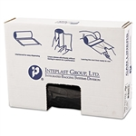 Low-Density Can Liner, 43 x 47, 56gal, .9mil, Black, 25/Roll, 4 Rolls/Carton