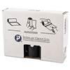 Low-Density Can Liner, 40 x 46, 45gal, 1.4mil, Black, 25/Roll, 5 Rolls/Carton